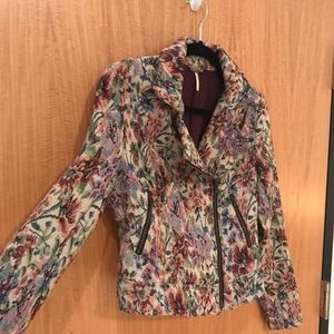 Lightweight floral moto jacket by Free People